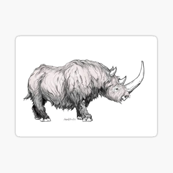 Woolly Rhino Sticker