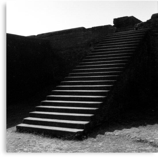1995 - nalanda, the steps to the library by Ursa Vogel