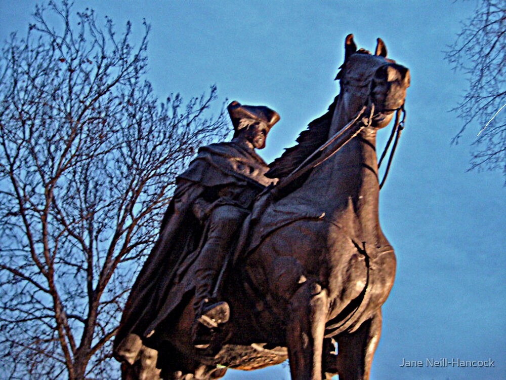 George Washington On His Horse, Morristown NJ by Jane Neill-Hancock