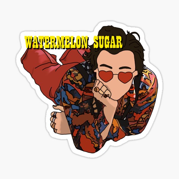 HARRY STYLES WATERMELON SUGAR DRAWING Sticker