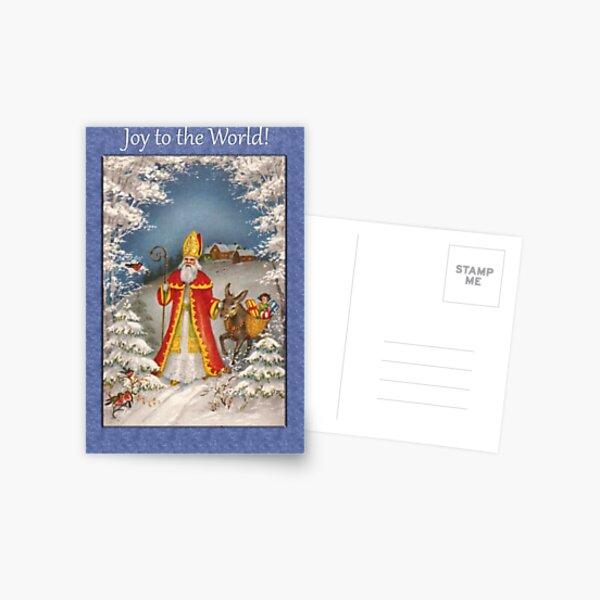 Joy to the World Christmas Card Postcard