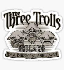 The Three Trolls Sticker