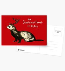 The Christmas Ferret Postcards