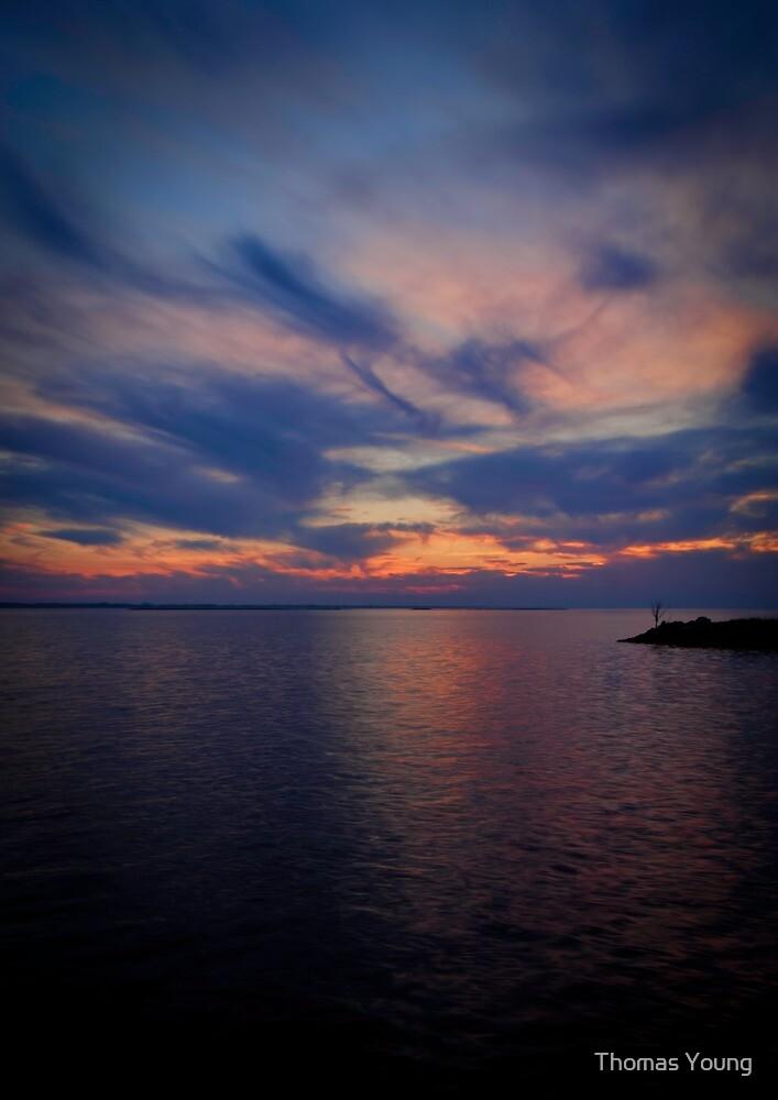 Sunset on Lake Poygan 1 by Thomas Young