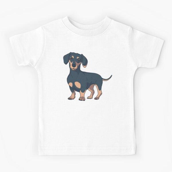 Perro Dachshund Camiseta para niños