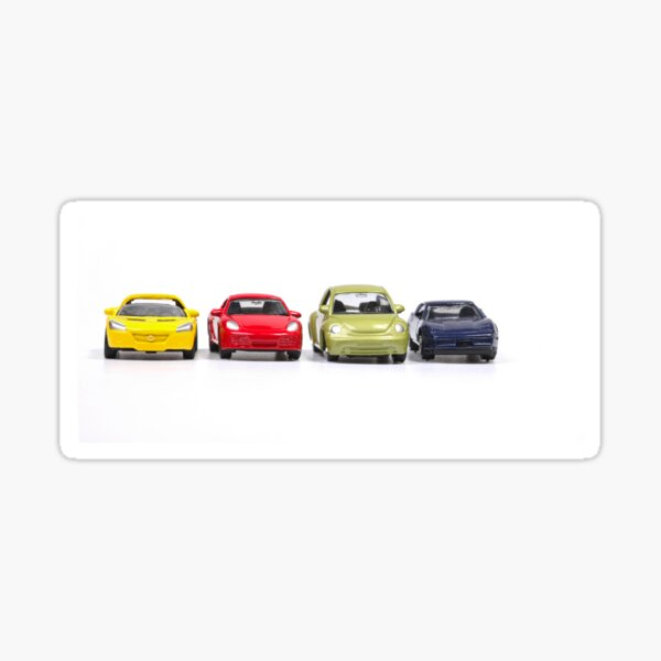 Colorful toy cars Sticker