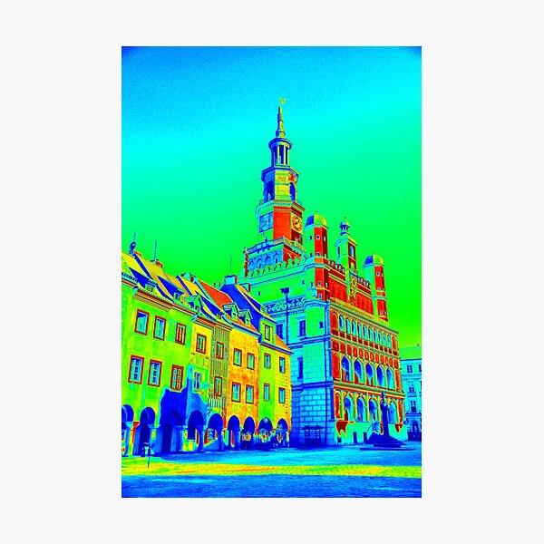 Poznan Town Square Pop Art Photographic Print