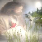 Jesus with Nature by ArtChances