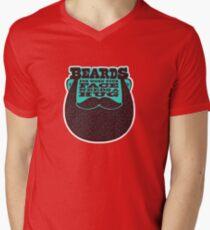 Bärte! T-Shirt mit V-Ausschnitt für Männer