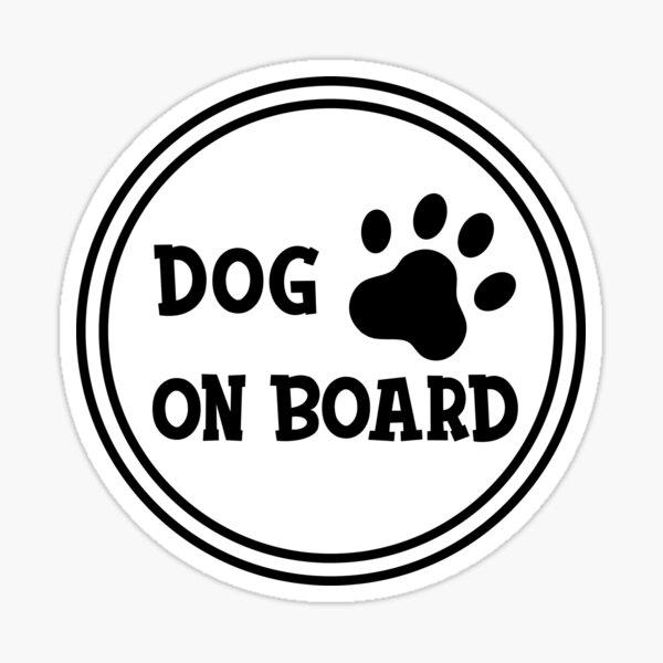 Dog on Board Sticker Sticker