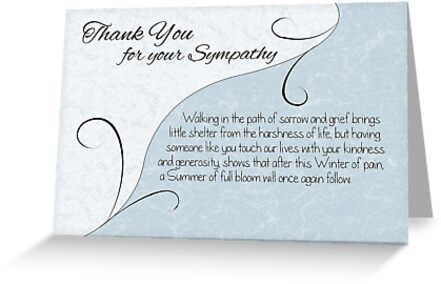 Thank you sympathy card pastel blue with vintage scrolls greeting thank you sympathy card pastel blue with vintage scrolls by samantha harrison thecheapjerseys Image collections
