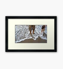 Together at the beach Framed Print