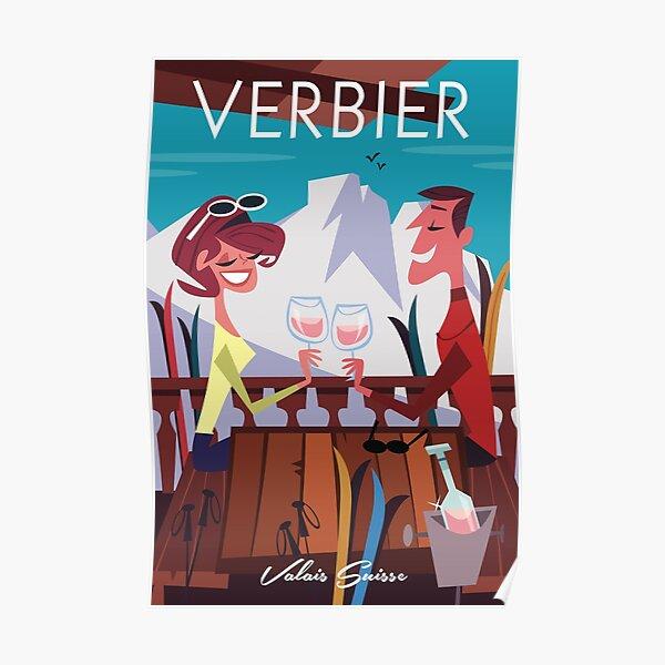 Verbier ski poster Poster