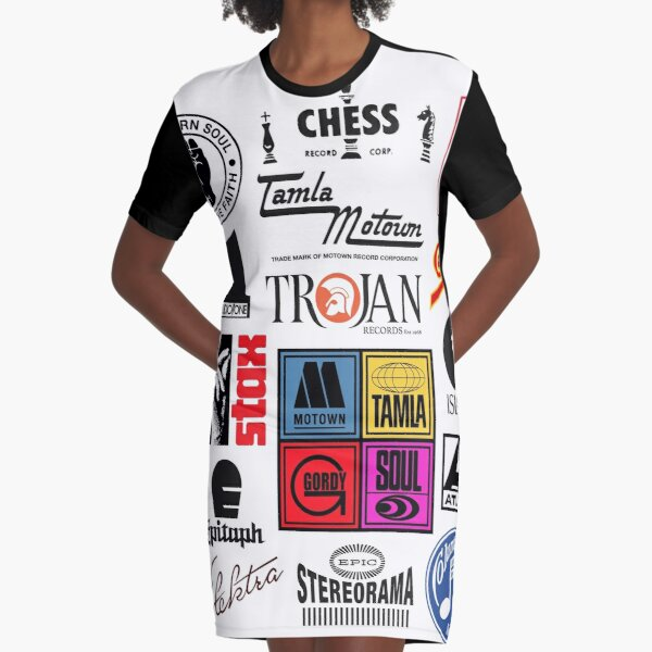 music label Graphic T-Shirt Dress
