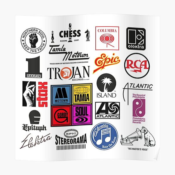 music label Poster