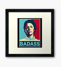 CAROL PELETIER BADASS (The Walking Dead) Framed Print