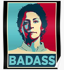 CAROL PELETIER BADASS (The Walking Dead) Poster