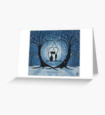 A Winters Romance Greeting Card