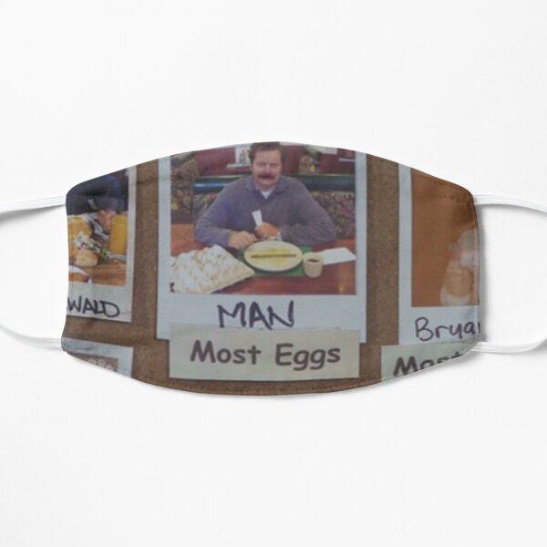 "Ron Swanson ""Man - Most Eggs"" Parks & Rec Flat Mask"