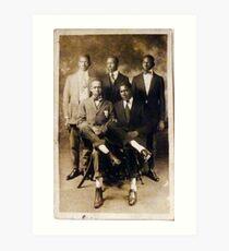 5 Serious Black Gentlemen Art Print