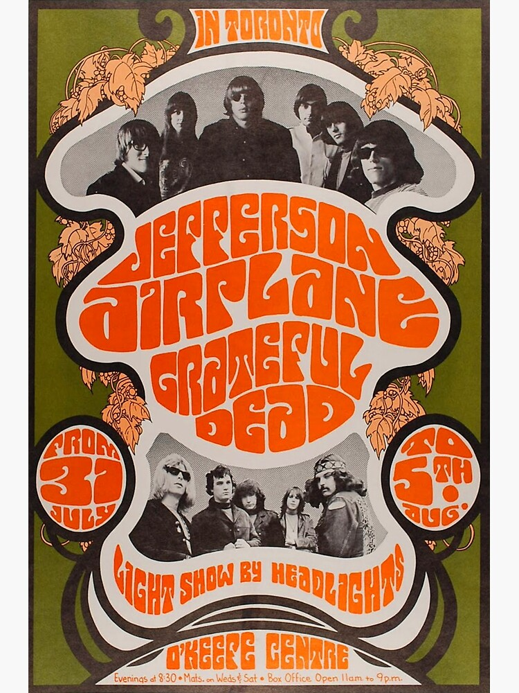 Jefferson Airplane and Grateful Dead gig poster by Lightning-63