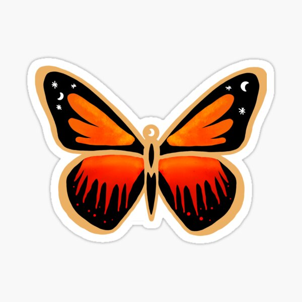Poisonous butterfly Sticker