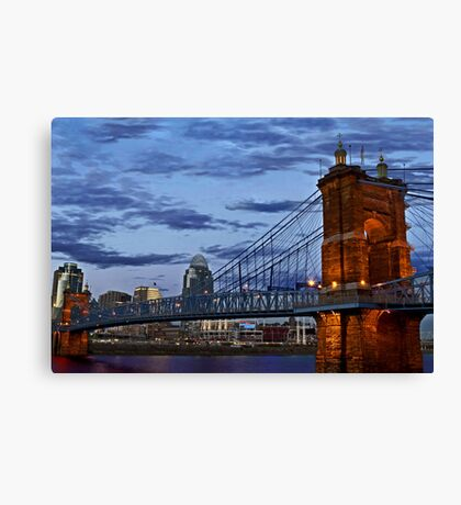 Roebling Bridge Cincinnati Canvas Print