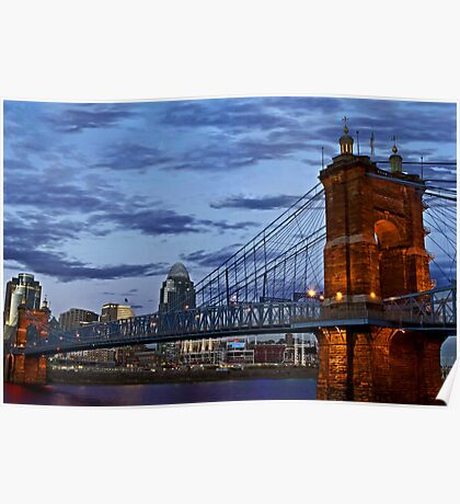 Roebling Bridge Cincinnati Poster