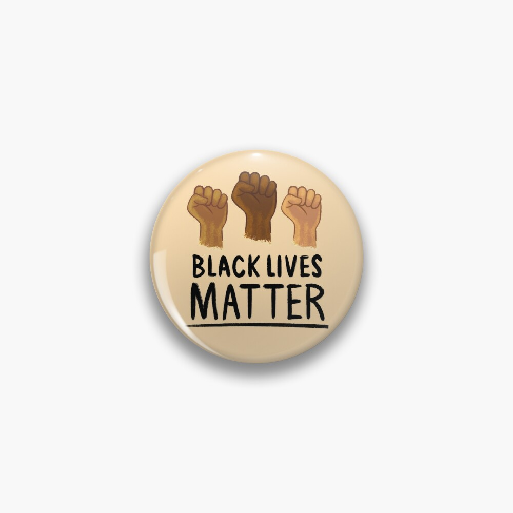 Black Lives Matter / Justice For George Floyd / Racial Justice Pin