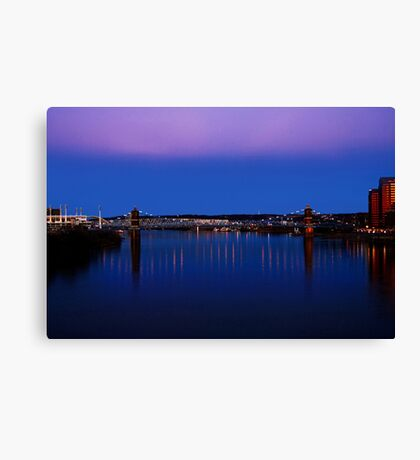 Roebling Connecting Two Cities Canvas Print