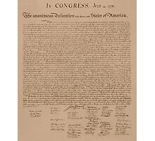 The Declaration of Independence Photographic Print