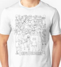 Characters of Bobs Burgers Unisex T-Shirt