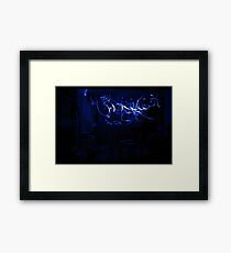 So there was a blackout, but I didn't panic. Framed Print