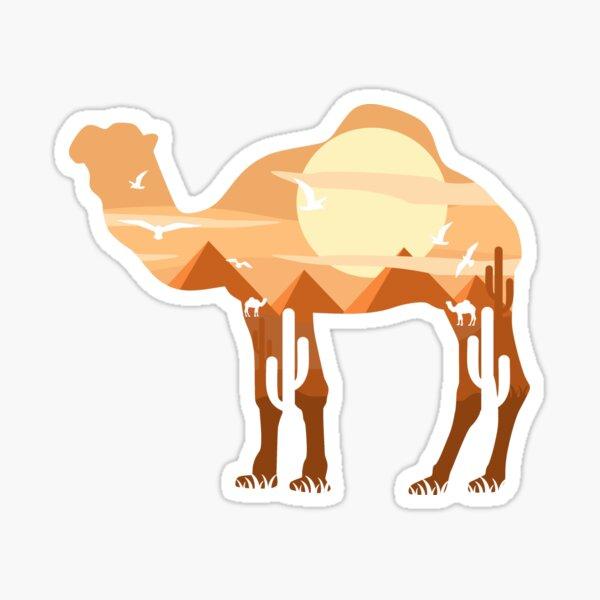 Camel Scenery Sticker