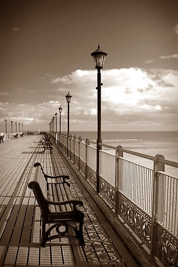 Skegness pier in sepia by swcphotography