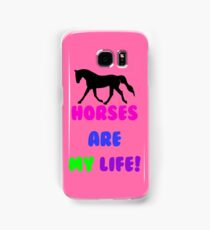 Horses Are My Life iPhone, iPod or iPad Case Samsung Galaxy Case/Skin