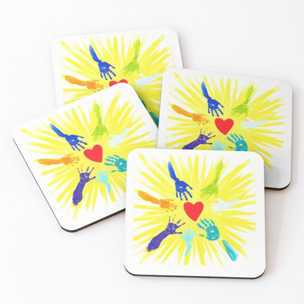 Creative Spirits Canvas Artwork Coasters (Set of 4)