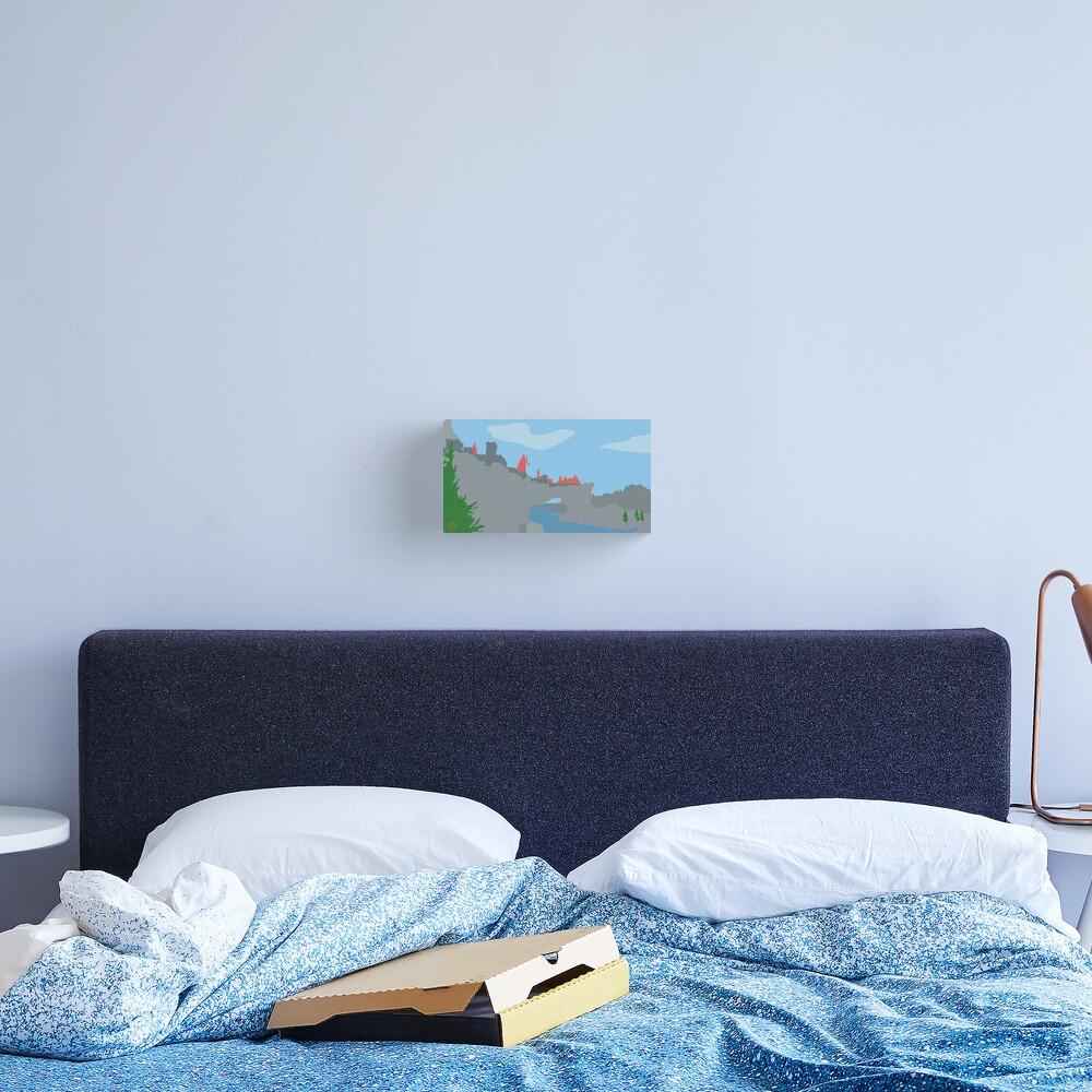 Skyrim Solitude Landscape Vector Artwork Canvas Print