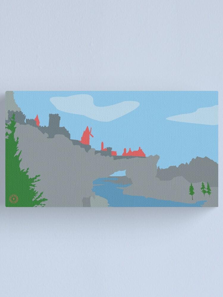 Alternate view of Skyrim Solitude Landscape Vector Artwork Canvas Print