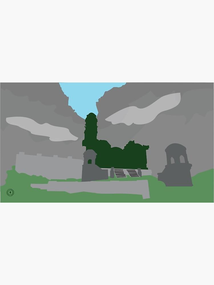 Skyrim Markarth Landscape Vector Artwork by felixt518