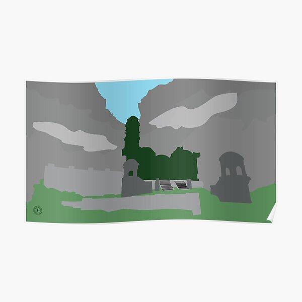 Skyrim Markarth Landscape Vector Artwork Poster