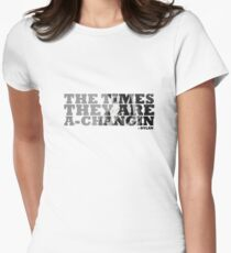 Bob Dylan The Times They Are A-Changin Women's Fitted T-Shirt