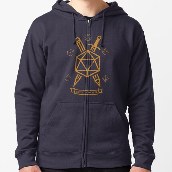 The Dungeon Master  Zipped Hoodie
