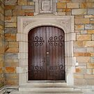 Wooden Door on building at Law Quad, University of Michigan by jrier