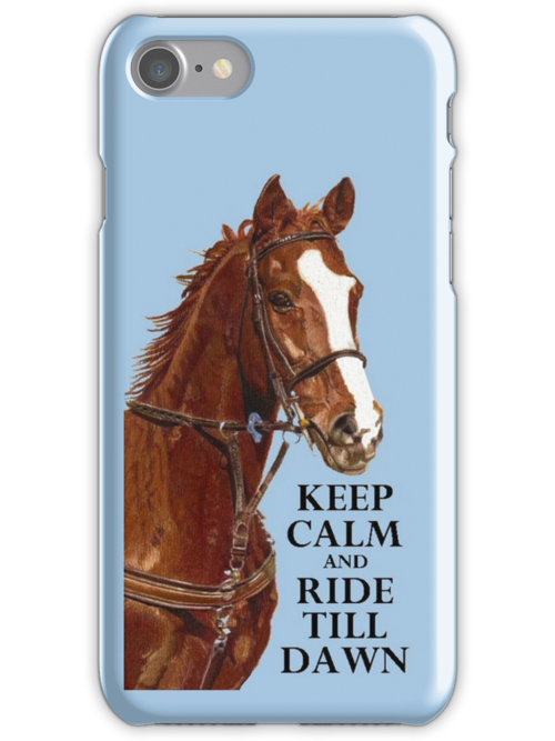 Keep Calm and Ride Till Dawn iPhone or iPod Case by Patricia Barmatz