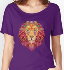 Geometric Lion Women's Relaxed Fit T-Shirt