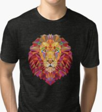 Geometric Lion Tri-blend T-Shirt