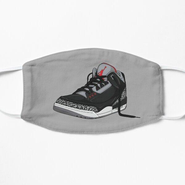 "Air Jordan 3 (III) ""NOIR & CIMENT"" Masque sans plis"