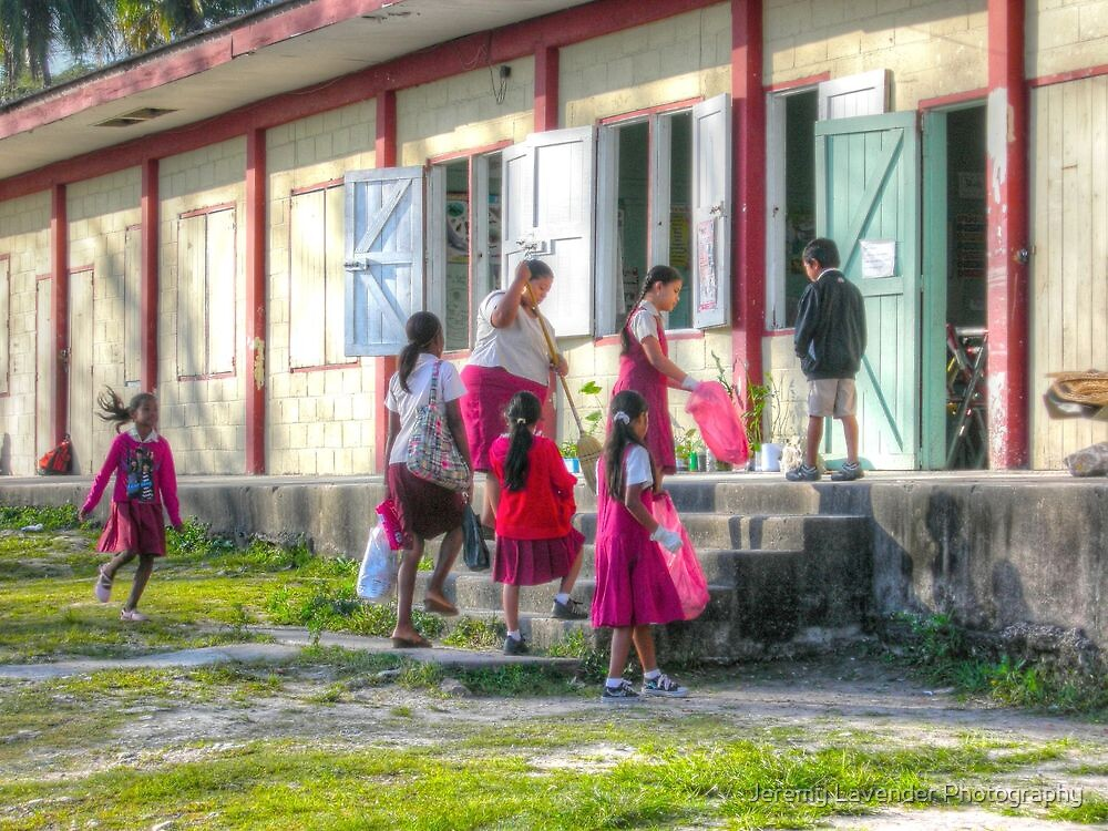 7:45 AM... School Opening in San Ignacio - Belize, Central America by Jeremy Lavender Photography
