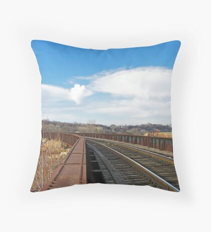 Rivets and Rails Throw Pillow